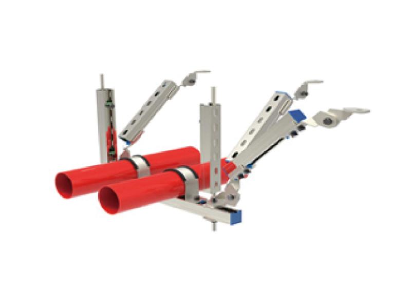 厦门单管双向抗震支架部件 买好用的管道抗震支架中程欣
