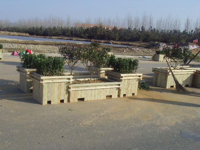 木制花箱,防腐木花箱,防腐木花盆