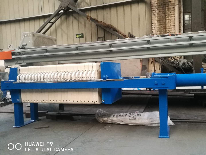 12平方压滤机玻璃废水处理选用兴泰压滤机