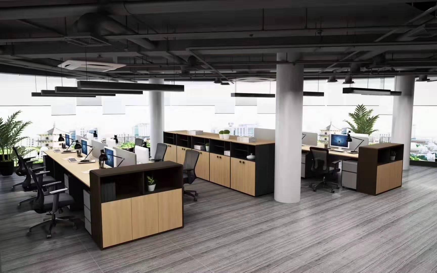 三人员工位-蚌埠办公屏风-亳州办公屏风