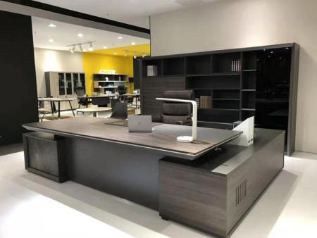 油漆板式班台定做-淮南老板办公桌-黄山老板办公桌