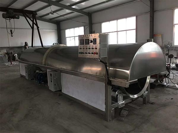 山東全自動流水線芝麻炒貨機生產商,連續式芝麻炒貨機流水線生產廠家