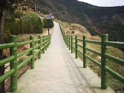 酒泉市塑石仿木栏杆公司,河堤仿木栏杆厂