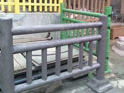 武威市水泥仿竹子栏杆哪家好,混凝土仿树皮栏杆生产厂家