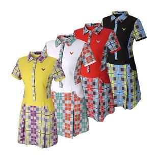 实惠的纯棉大摆弄套头单件翻领短袖连衣裙推荐-高尔夫女装价格范围