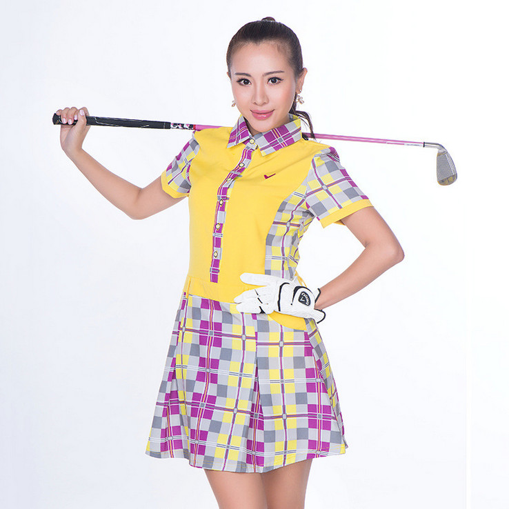 高尔夫女装价钱如何|想买纯棉大摆弄套头单件翻领短袖连衣裙上哪比较好