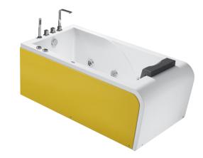 黃邊造型浴缸