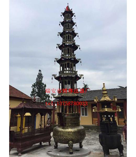 温州满意的铸铜铸铜故宫宝鼎批发-三层故宫寺庙道观宝鼎