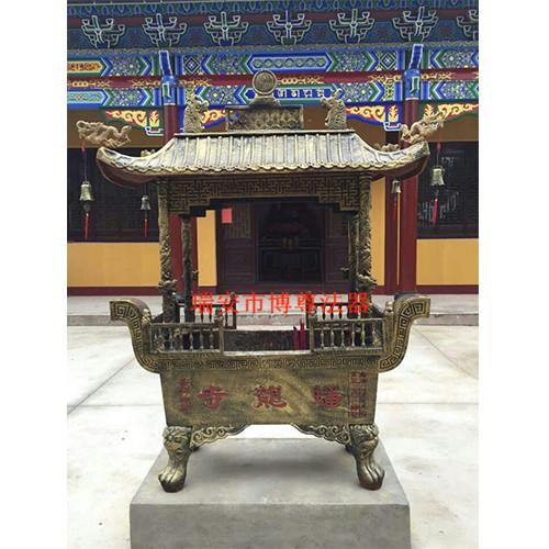 大兴铸铁香炉_买寺庙二层长方香炉就来瑞安博尊法器
