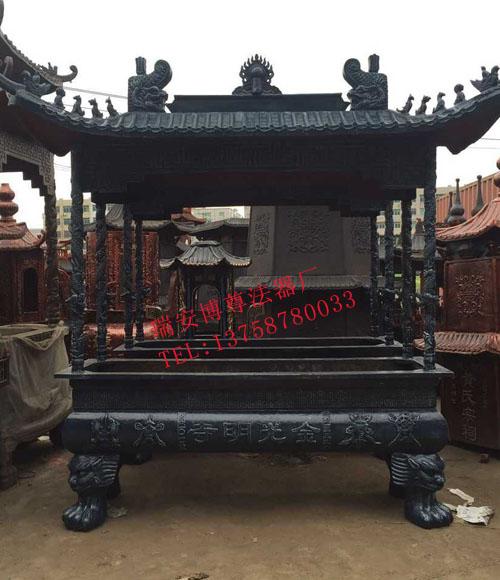 浦东新区香炉 专业的四龙柱铁香炉提供商—瑞安博尊法器