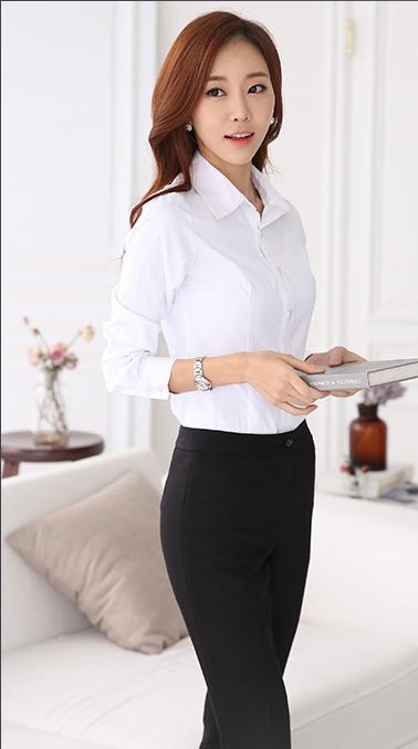 巴中女性定制白衬衫不同风格的搭配-美泰来服饰