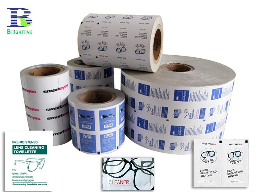 鋁箔紙包裝卷材批發,濕巾棉片酒精棉片包裝批發定制