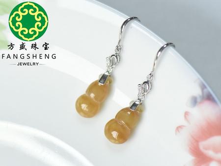 精致的黄翡耳环首要选择方盛珠宝-肇庆翡翠加工