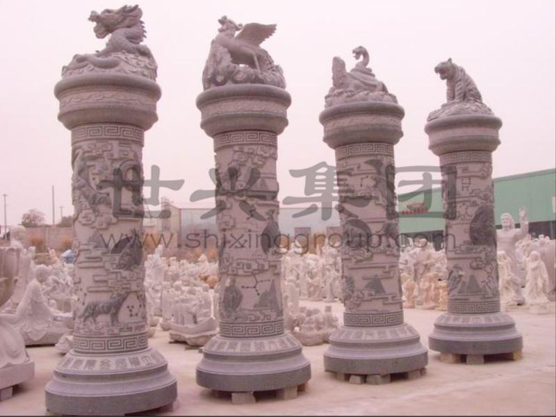 廣場文化柱雕刻-世興石業提供的廣場文化柱哪里好