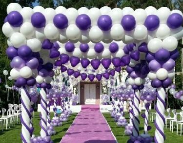 《今日资讯》青岛百日宴布置,气球拱门,氦气气球批发