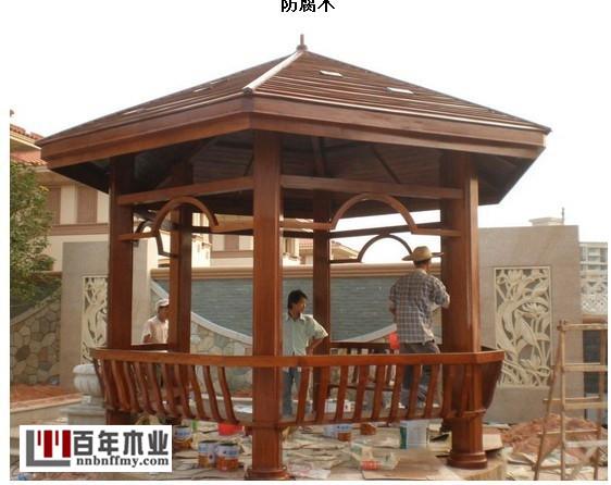 广西防腐木亭子订制-上哪买价格合理的木制凉亭