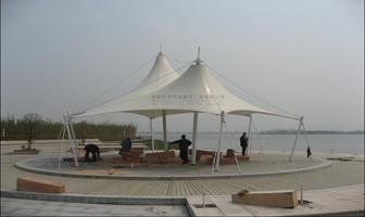 膜结构景观工程工程项目-划算的张拉膜设计