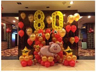 哪里有气球放飞案例买制作精巧的青岛生日气球,就到青岛逗儿乐彩球