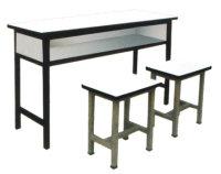 甘肅餐桌|蘭州專業雙人課桌椅,認準恒順元家具