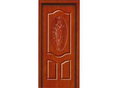 实木雕花扣线门