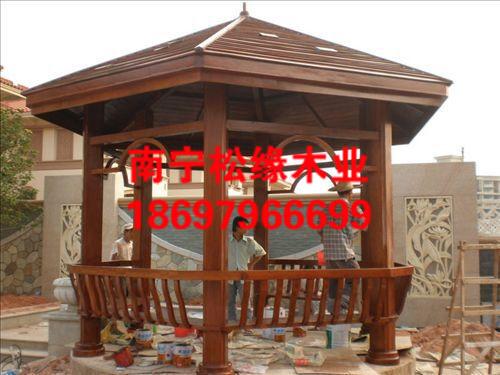 南宁碳化木凉亭供应|在哪能买到高质量碳化木凉亭
