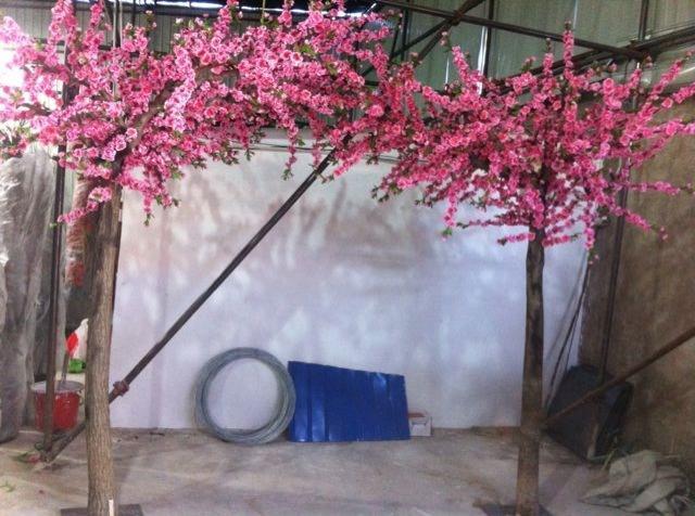 仿真桃花树仿真景观树厂家-金鼎园林雕塑公司供应实惠的假桃花树