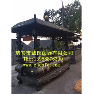温州热卖方形龙柱铜香炉——寺院香炉