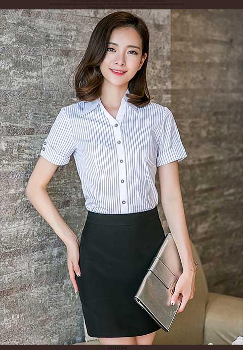 当下热销的女士职业衬衫推荐,直销面试酒店工作装