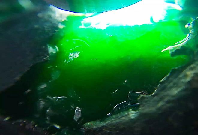 翡翠赌石黑乌纱莫湾基翡翠原石——精美的莫湾基帝王绿色料出满色镯子在哪里买