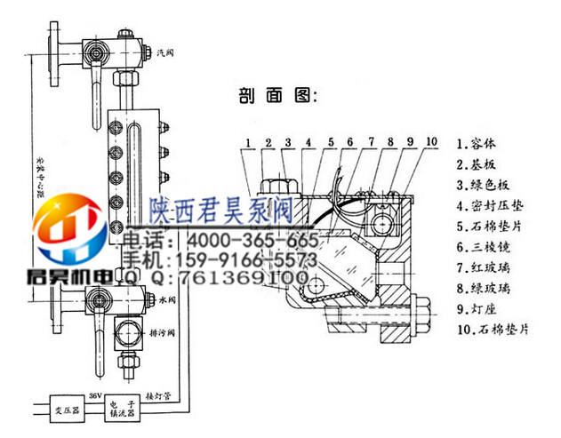 西安透反射式双色水位计价格|定西锅炉平板水位计