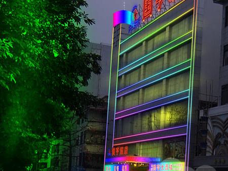 咸阳楼体亮化 西安鑫城广告_有口碑的楼体亮化公司