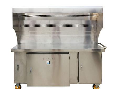 汇源永厨房设备公司专业供应无烟净化烧烤炉 无烟净化烧烤车