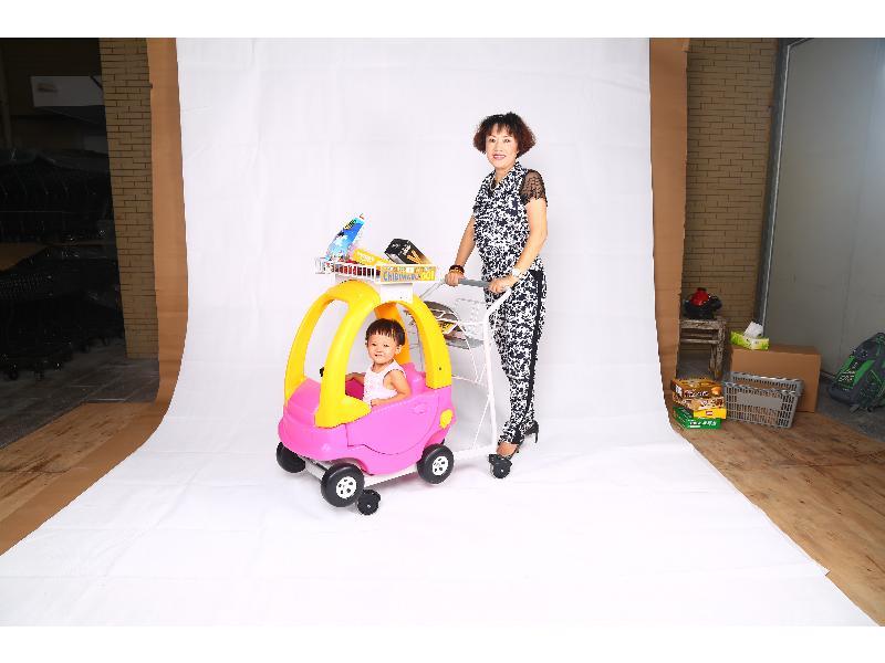超市儿童购物车-福建质量好的超市手推车销售