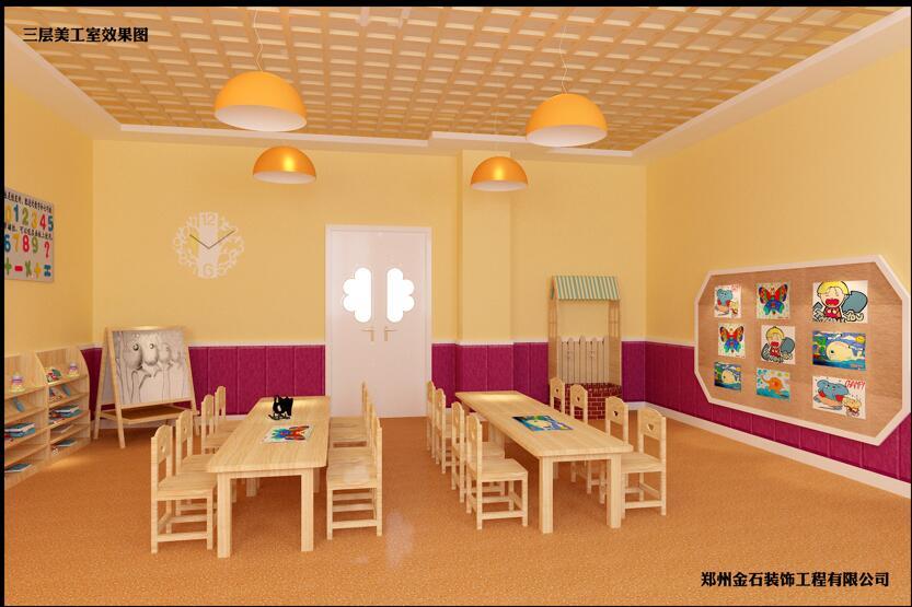 开封幼�儿园装修设计-口碑好的幼儿园装修∮公司当选郑州金石装饰