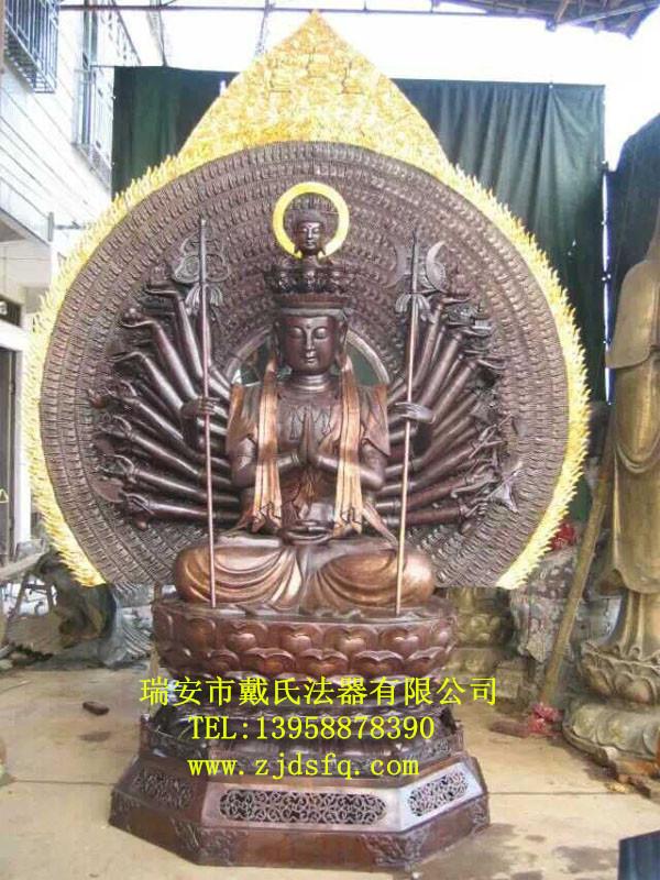铜佛像制作当选戴氏法器厂|长沙观世音菩萨坐相