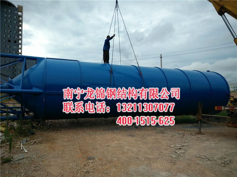 南宁水泥罐安装|南宁龙锦钢结构_水泥罐质量稳定