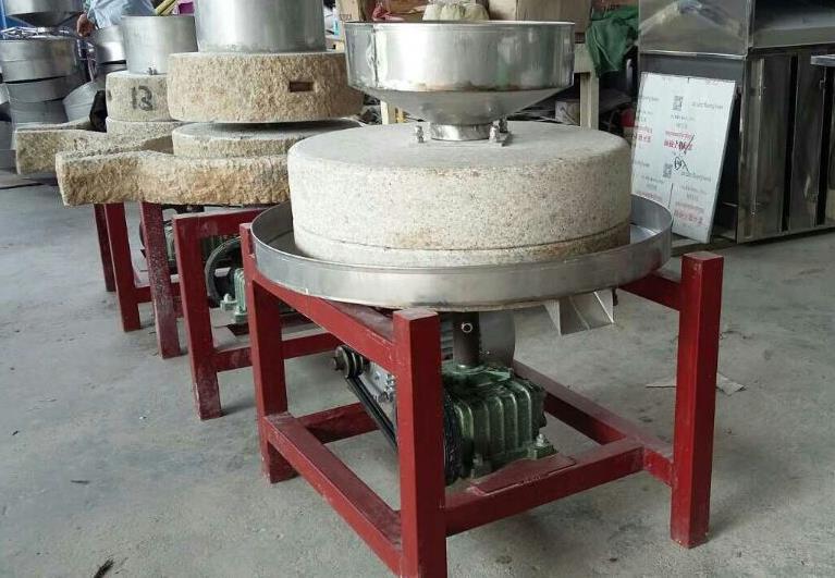 哪里有卖电动米浆石磨|郑州高性价面粉石磨机批售