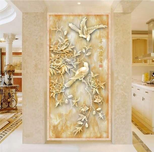 福州微晶石彩雕背景墙,上哪买价格合理的有机玉石彩雕