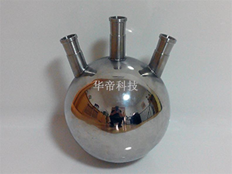 三口烧瓶-鞍山华帝科技销量好的不锈钢蒸馏圆底烧瓶