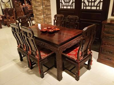 酒泉红木餐桌定制|具有良好口碑的红木家具出售