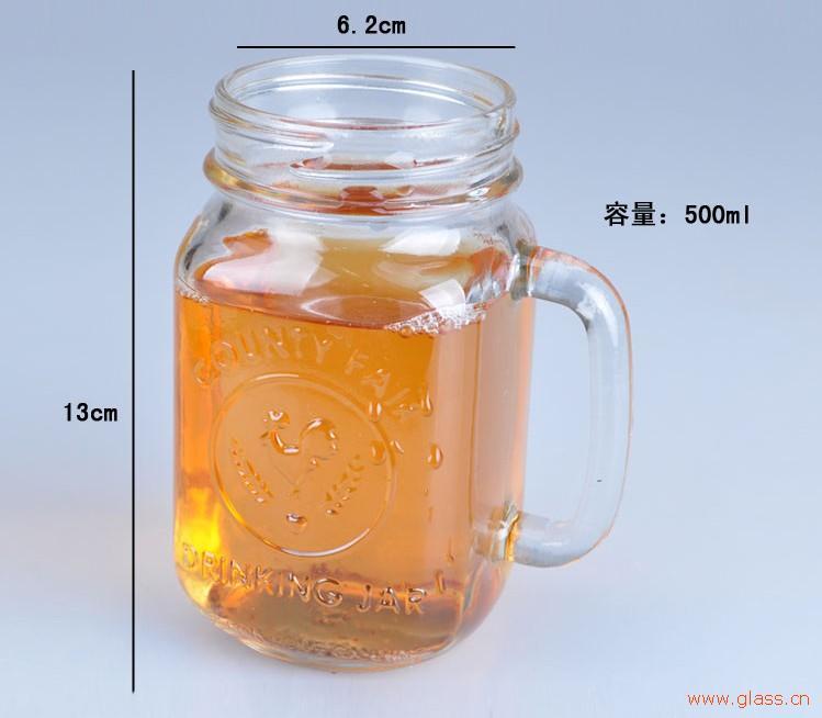 上海订购把手杯-有信誉度的把手杯生产厂家就是上弘玻璃