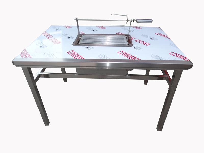 格润厨房设备优良的烧烤桌出售-贵州木炭烧烤桌