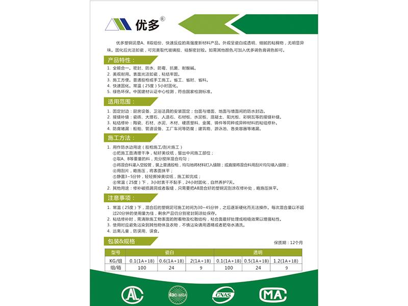 塑钢泥使用方法|找优良塑钢泥上上海优多建材