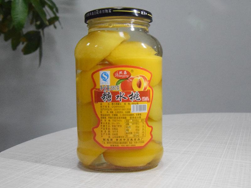 优质糖水黄桃罐头推荐 山东黄桃罐头