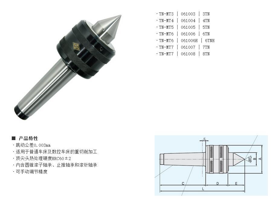回转顶尖-【实力厂家】生产供应重型顶针