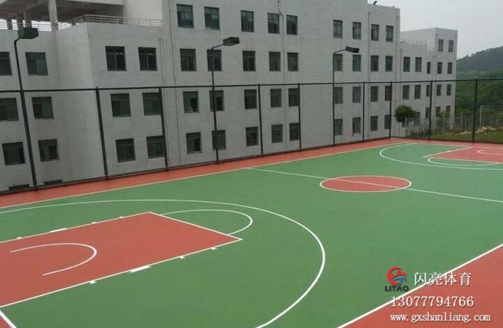 南宁篮球场施工价格_想买口碑好的广西硅PU球场就来广西闪亮体育用品