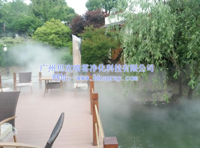 广州别墅造雾喷雾,厂家定制景观造雾设备,餐厅酒店人造雾