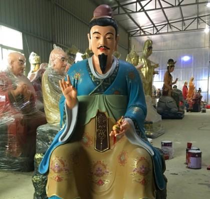 彩繪藥王|王寺廟定制佛像宗教用品供應商哪家信譽好