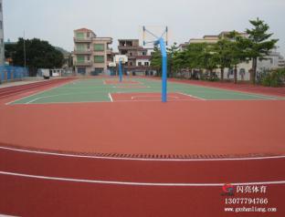 广西塑胶运动场,可信赖的南宁篮球场施工生产厂