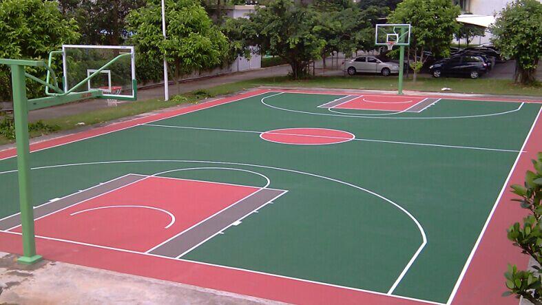 南宁硅PU篮球场-想买报价合理的南宁篮球场施工就来广西闪亮体育用品